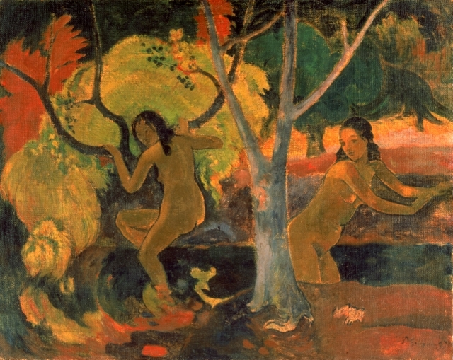 Paul Gauguin (1848-1903) Bathers at Tahiti, 1897 Oil on sacking, 73.3 x 91.8 cm © The Trustees of the Barber Institute of Fine Arts, University of Birmingham