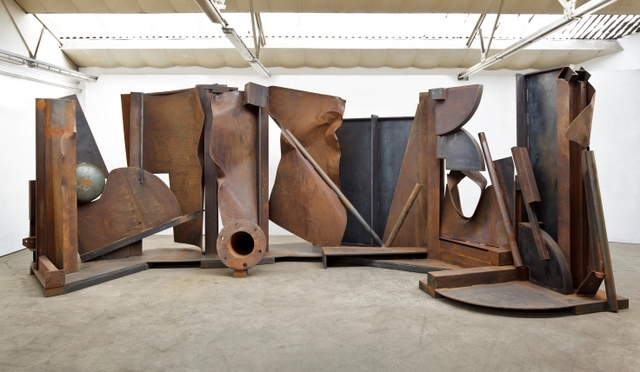 Anthony Caro RA  Shadows, 2013  Steel, 350 x 8000 x 310  ?? Barford Sculptures Ltd.   Photography: John Hammond