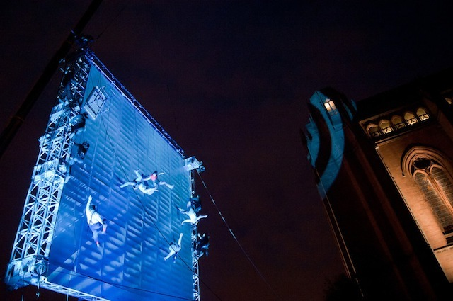 As The World Tipped by Wired Aerial Theatre (photo Mark McNulty)