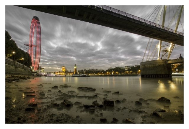 Red Eye..  Taken below Hungerford Bridge looking toward Westminster