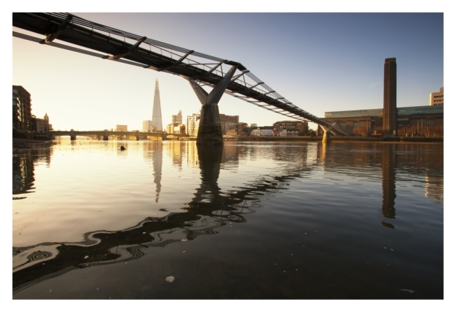 Still waters.. Looking under the Millennium Footbridge towards the Shard