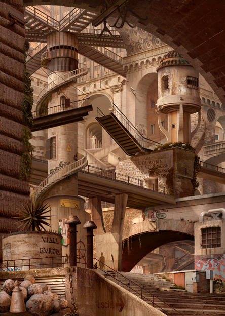 Emily Allchurch Urban Chiaroscuro 4: Rome (after Piranesi), 2012. Image courtesy Nancy Victor
