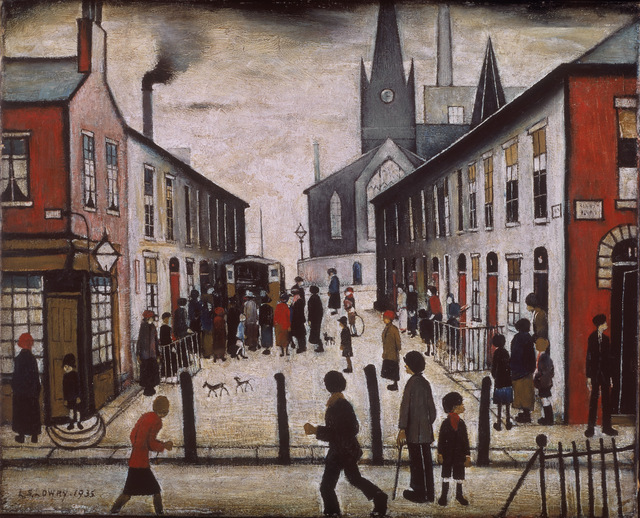 L.S. Lowry The Fever Van 1935. Walker Art Gallery (Liverpool, UK)
