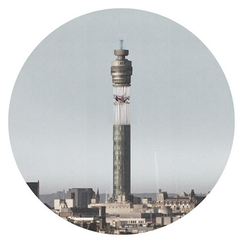 An Aerial View, by OMMX.  Reclaiming the decommissioned aerial platforms of the BT tower, the proposal circumscribes the space in a curtain forcing the viewer to question the building's familiarity; it transforms the platforms from a defunct piece of public infrastructure into a civic space.