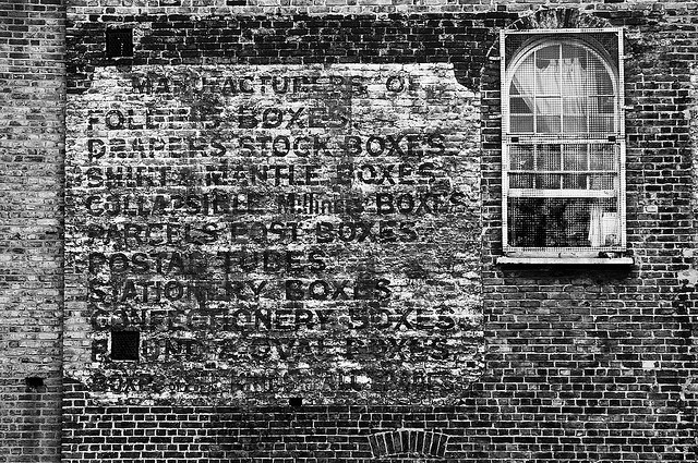 Ghost sign along the Regent's Canal. By Tom Bland.