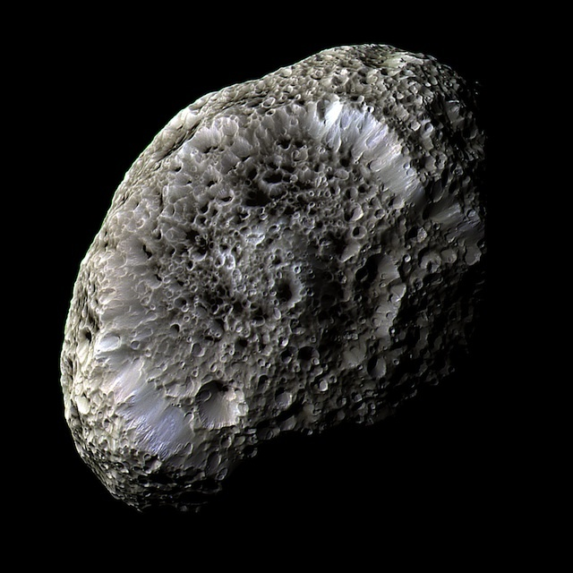 Hyperion, moon of Saturn, NASA/JPL