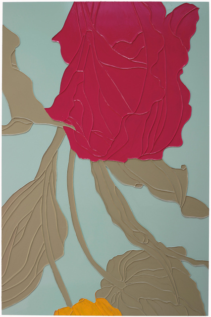 Gary Hume, Tulips 2009, Private collection, courtesy Matthew Marks Gallery.
