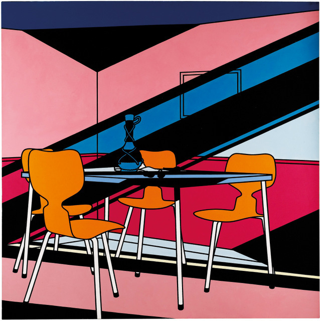 Patrick Caulfield, Cafe Interior: Afternoon 1973. Private collection