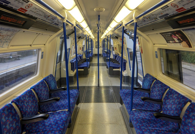 Interior of the refurbished train