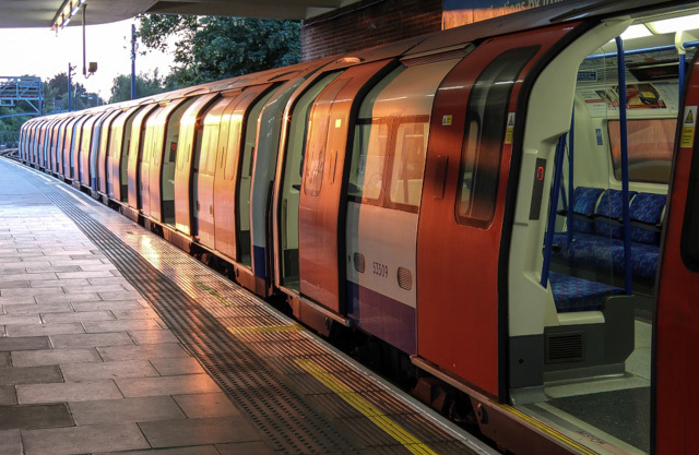A train at East Finchley