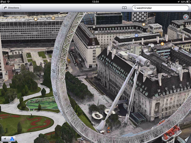 No pods, no visible means of support...the London Eye's radical new look.