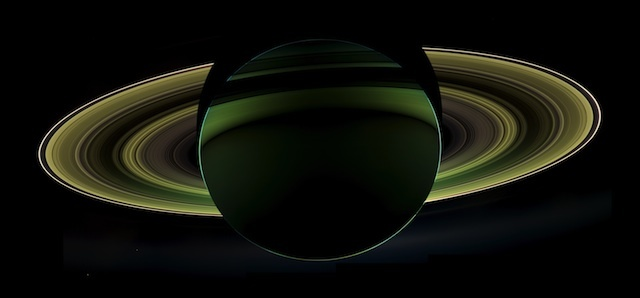 Saturn eclipses the sun, NASA/JPL