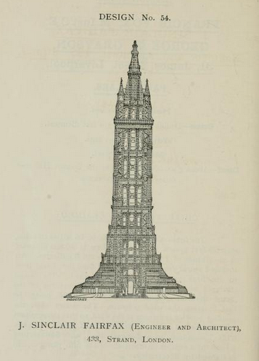 Proper Victorian gothic, and designed to swing a pendulum within the open interior for scientific experiment. 395 metres tall.