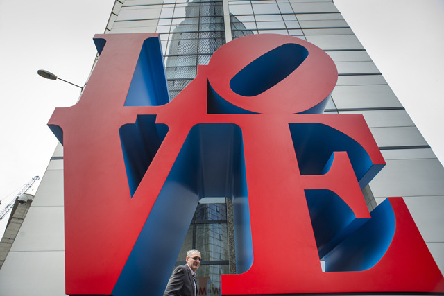 "Robert Indiana's famous ""Love"" sculpture will stand at the corner of 99 Bishopsgate – the site of the 1993 IRA bomb 20 years ago."