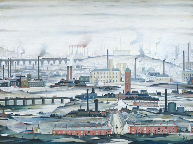 L S Lowry Industrial Landscape 1955.  © The estate of L.S. Lowry Photo: Tate Photography