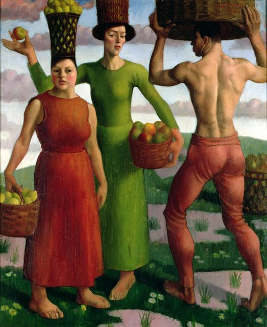 Mark Gertler The Fruit Sorters 1914. Image courtesy New Walk Museum and Art Gallery, Leicester.