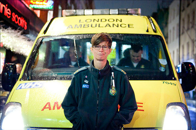 Jules, an Emergency Medical Technician for London Ambulance Service. By World of Tim