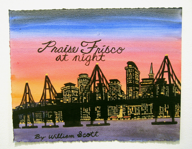 William Scott Untitled (Praise Frisco at Night) (2006) © Creative Growth Art Center Courtesy Anne Collier and Matthew Higgs