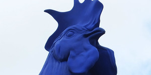 In Pictures: Giant Blue Cock In Trafalgar Square