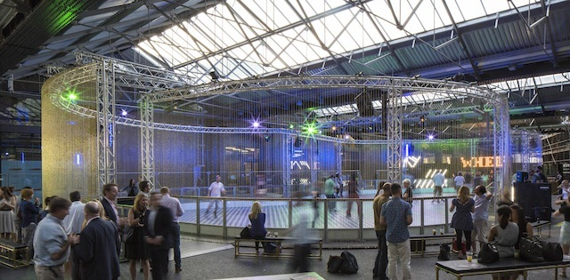 Skate King's Cross, a popup Roller Rink in the West Handyside Canopy