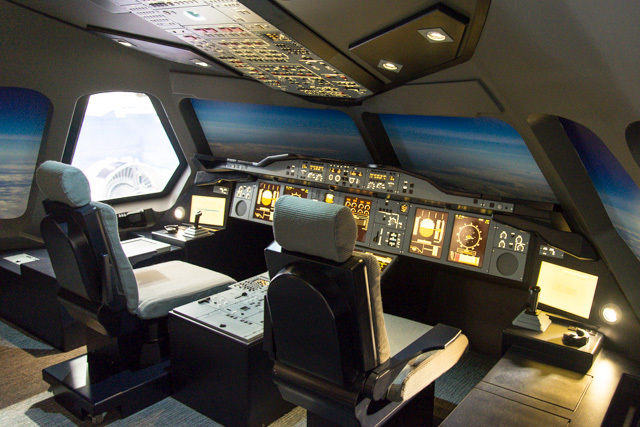 Interior of the A380 nose cone.