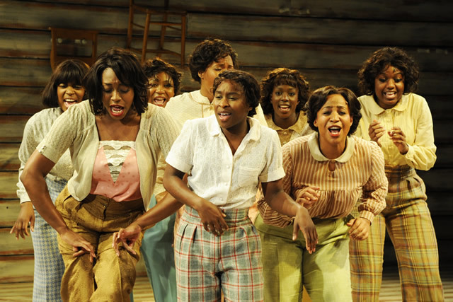 Who's wearing the pants now? Cynthia Erivo and company © Nobby Clark
