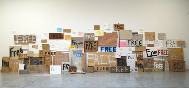 Peter Liversidge Free Signs, 2010/11 © Peter Liversidge Courtesy: Sean Kelly, New York and Ingleby Gallery, Edinburgh