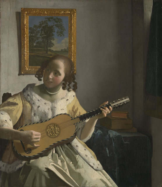 Johannes Vermeer (1632 - 1675) The Guitar Player, about 1672 On loan from English Heritage, The Iveagh Bequest (Kenwood) © English Heritage