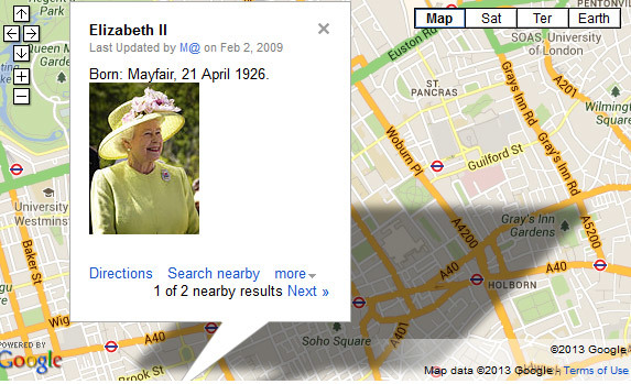 The Births And Deaths Of English Monarchs...Mapped