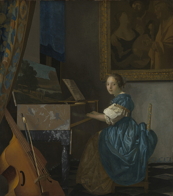 Johannes Vermeer (1632 - 1675) A Young Woman seated at a Virginal, about 1670-2 The National Gallery, London © The National Gallery, London