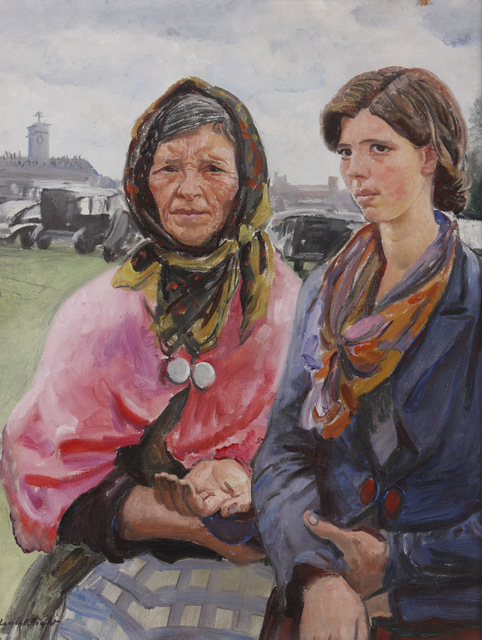 Gypsies at Ascot by Dame Laura Knight, 1933. Copyright: Hereford Museum and Art Gallery. Reproduced with permission of The Estate of Dame Laura Knight DBE RA, 2013