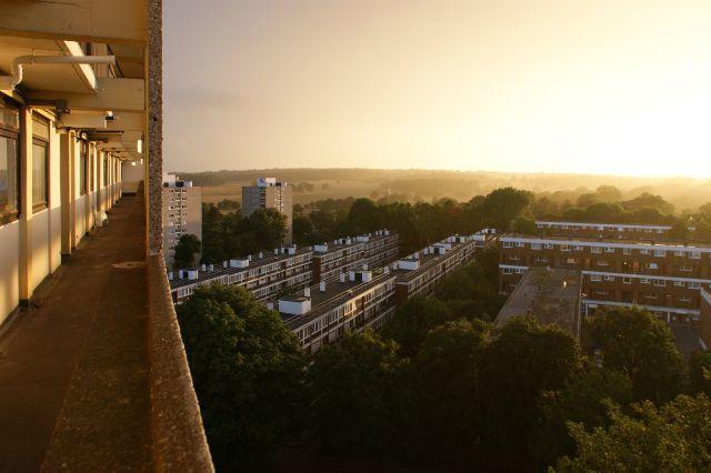 Alton Estate on a sunny evening