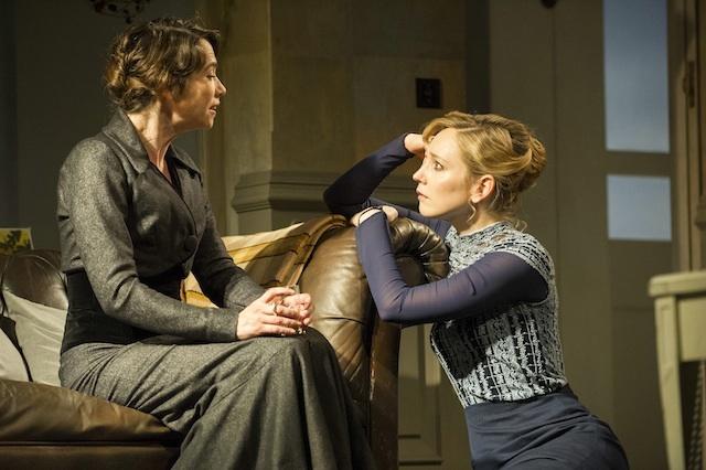 Kristine (Caroline Martin) and Hattie Morahan (Nora). Photo by Richard Hubert Smith