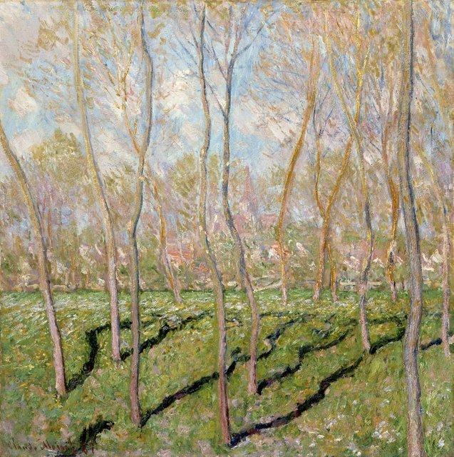 Claude Monet. Vue sue Bennecourt, 1887, Oil on canvas, 81 x 81 cm, Columbus Museum of Art, Ohio