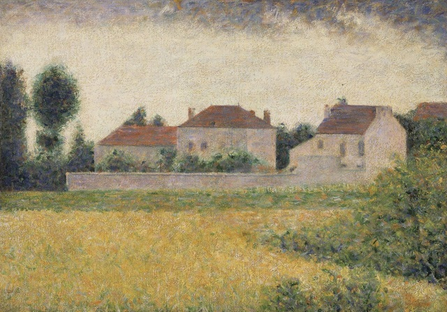 George Seurat. Ville d'Avray, maisons blanches, 1882, oil on Canvas, 33 x 46 cm, Walker Art Gallery, Liverpool