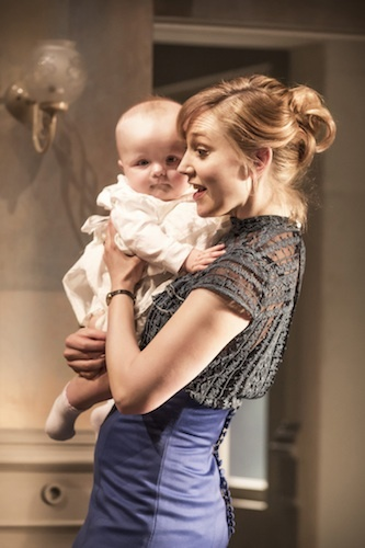 Hattie Morahan as Nora with surely the cutest baby ever to appear on the West End stage. Photo by Richard Hubert Smith