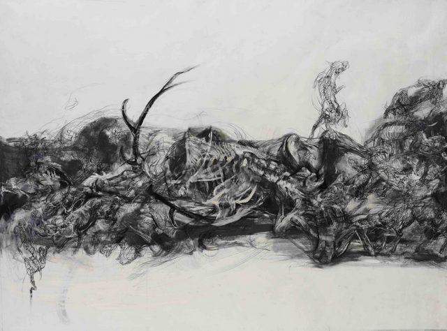 Lanfranco Quadrio, Death of Actaeon, 2013. Image courtesy Rosenfeld Porcini