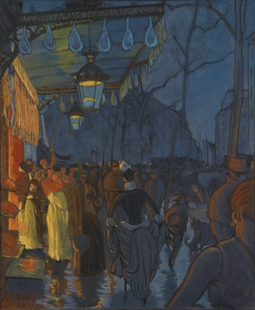 Louis Anquetin. Avenue Clichy, evening, 5 o'clock, 1887, oil on canvas, 60.3 x 50.3 cm, Private Collection