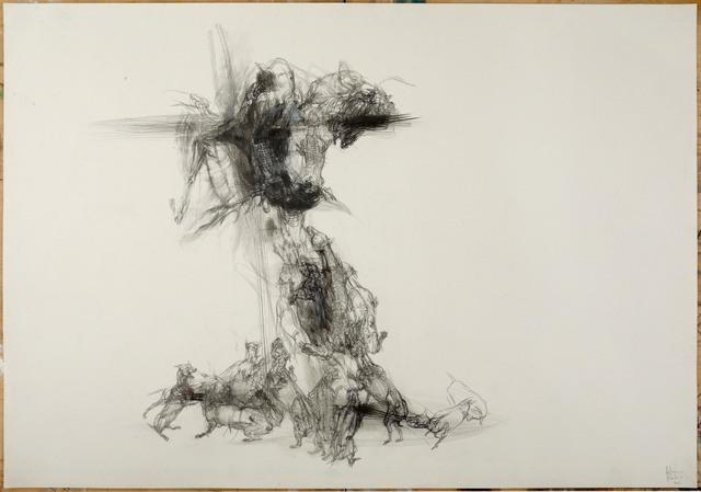 Lanfranco Quadrio, Agony of Actaeon - Cross and Dogs, 2013. Image courtesy Rosenfeld Porcini