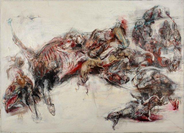 Lanfranco Quadrio, Agony of Actaeon - The Pack, 2013. Image courtesy Rosenfeld Porcini