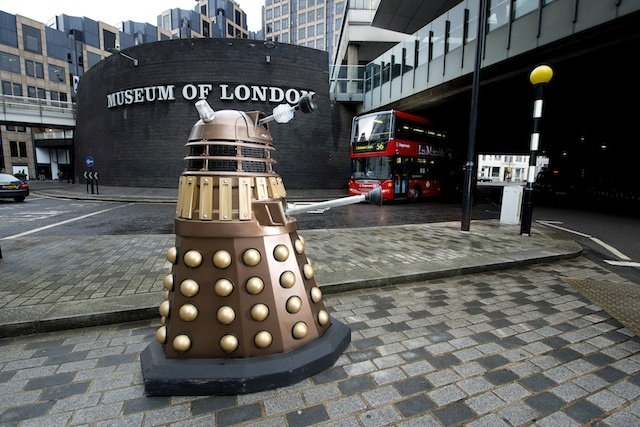 Daleks arrive at the Museum of London
