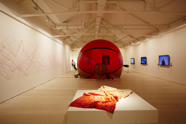 Installation view, RED NEVER FOLLOWS ©Stage Brothers, 2013