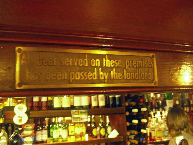 Spotted in an East End boozer.