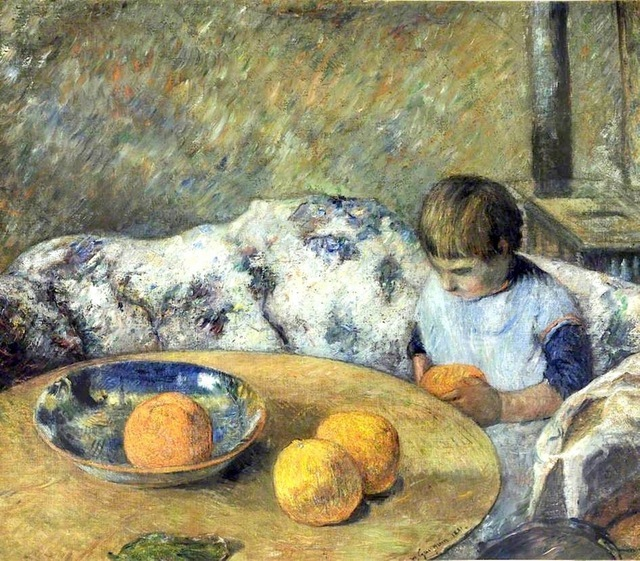 Paul Gauguin. Interieur avec Aline Gauguin, 1881, oil on canvas, 52.4 x 60.3cm, The Graves Art Gallery, Sheffield