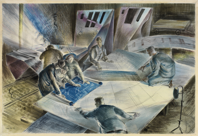 Reading a Blue Print. © IWM (Art.IWM ART LD 1440)