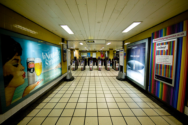 Barbican Tube Ticket Hall by Homemade
