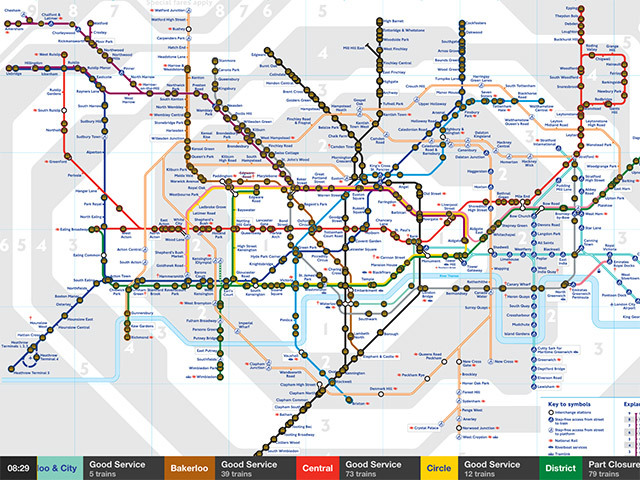Real Time Trains Maps Watch Tube Trains Mapped In Real Time On Your Phone | Londonist