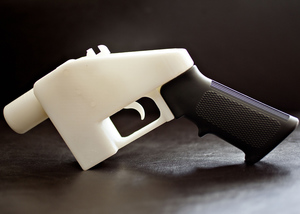 A gun made through a 3D printing process, due to be displayed and the Victoria and Albert Museum.