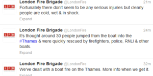 Breaking News: Duck Tour Boat On Fire On The Thames