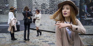 In Pictures: Outside Somerset House For London Fashion Week